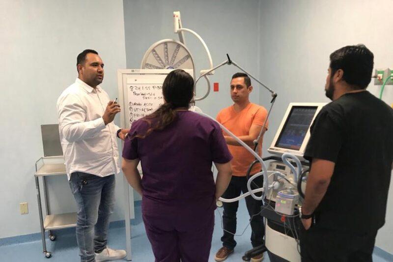HOSPITAL DE COMONDÚ CAPACITA A PERSONAL SOBRE CUIDADOS INTENSIVOS DE PACIENTES COVID